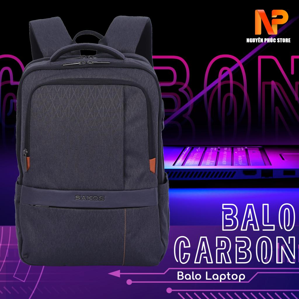 Balo Laptop Sakos Carbon